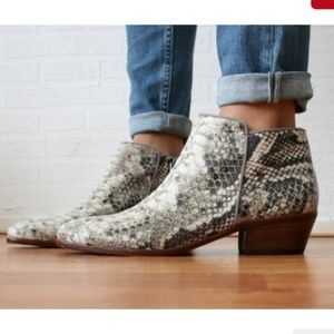 AMAZING snakeskin leather booties Sam Edelman